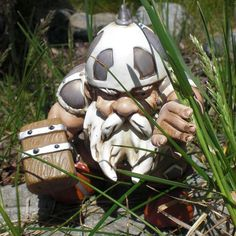 If ever I were to consider putting a gnome in my garden, this would be it.  [Fancy - Warrior Garden Gnome]