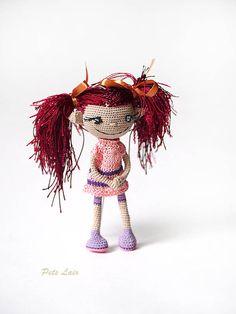 moppet Handmade Crochet Doll Amigurumi girl dolly by PetsLair ♡