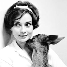 """I adore this photograph for the same reasons as the image of her holding the small dog. The same goes for all the images I have seen of her with a little deer. The images do not at all seem forced or pretentious as images of the like tend to be. She seems truly loving and joyous around these beautiful animals."" Corbis   - HarpersBAZAAR.com"
