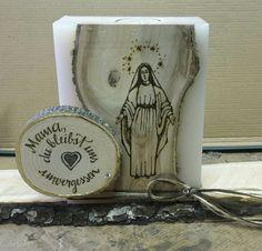 Trauerkerze ...in Holz gebrannt...  erhältlich bei Dagis Deko