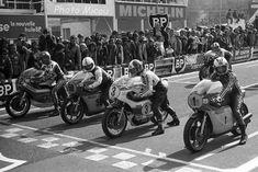 Sheene - Bonera - Ago - Read & Michel - GP France 500 (Charade) - 1974