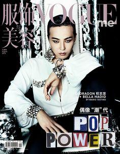 G-Dragon with Bella Hadid - Vogue China Magazine August Issue Vogue China, Choi Seung Hyun, Daesung, Moda G Dragon, Bella Hadid, G Dragon Instagram, G Dragon Fashion, Men's Fashion, Bigbang G Dragon