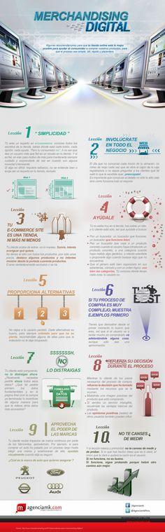 Merchandising digital #infografia