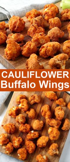 Cauliflower Buffalo Wings are easy to make and they have a flavor kick that is just the best. The outside gets so nice and crispy with an air fryer while the inside is nice and tender. All vegan and all healthy! #cauliflowerbuffalowings #cauliflowerbuffalowingsrecipe #buffalowingssauce #vegancauliflowerbuffalowings #cauliflowerbuffalobites #veganbuffalowings Vegan Appetizers, Easy Appetizer Recipes, Healthy Recipes, Party Appetizers, Yummy Recipes, Keto Recipes, Vegetarian Recipes, Healthy Food, Healthy Eating