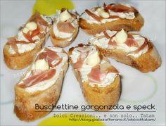 Buschette gorgonzola e speck un'idea davvero gustosa e veloce per preparare un antipasto saporito e perfetto per un buffet o una cena tra amici, con...