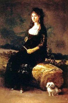 ⍕ Paintings of People & Pets ⍕  Francisco José de Goya y Lucientes | Dona Joaquina Candado, 1802