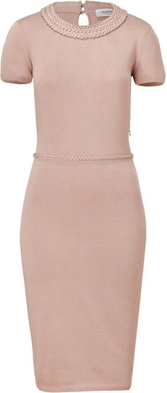 VALENTINO Powder Silkcotton Dress - Lyst