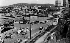 Oslo - fra Akershus mot Rådhuset og Piperviken Utg Normann ca 1938