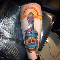 Light house tattoo traditional tattoo