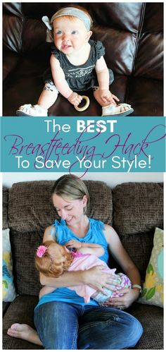 I've got the BEST Breastfeeding Hack That Will Save Your Style! It's so amazing, easy, and allows you to be stylish and discreet! Breastfeeding Shirt, Karen Kingsbury, Little Tykes, Nursing Tank, Best Husband, Number Two, Everything Baby, Baby Needs, First Baby