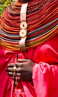 Africa | Detail from a Rendille woman.  Marsabit, Kenya | ©Rita Willaert
