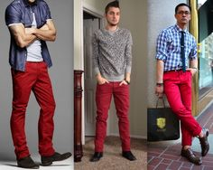 Homens Calça Vermelha (8)