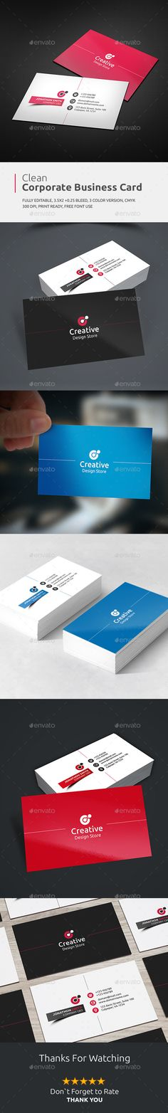 #Business Card - Business Cards Print Templates - # Card - #personal card -  I Download: https://graphicriver.net/item/business-card/13298166?ref=jpixel55