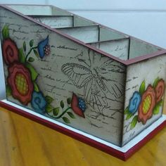Decoupage Box, Vintage Box, Wooden Boxes, Easy Crafts, Painting On Wood, Chalk Paint, Wood Crafts, Painted Furniture, Craft Projects
