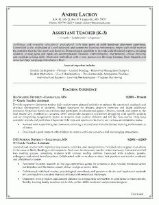 teachers assistant resume example page 1