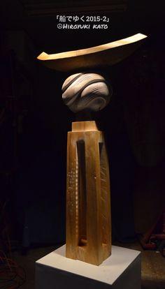 Kato Hiroyuki's sculpture 「船でゆく2015-2」