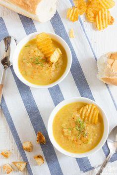 Суп-пюре из печеного картофеля