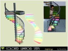 Functional light - colored luminous steps for spiral staircases. Ideal for bars and dance clubs. Does not interfere with walk Sims, does not require a code. Found in TSR Category 'Floor Lamps' Sims 3, Sims 4 Teen, Sims Four, Los Sims 4 Mods, Sims 4 Cc Folder, The Sims 4 Skin, Sims 4 Anime, Muebles Sims 4 Cc, Pelo Sims