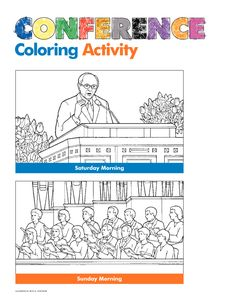 Conference coloring activity