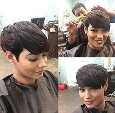 Love her pixie! @tahlia_atlantasrealtor - Black Hair Information Community