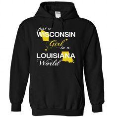 (WIJustVang002) Just A Wisconsin Girl In A Louisiana Wo - #tee verpackung #dressy sweatshirt. BUY IT => https://www.sunfrog.com/Valentines/-28WIJustVang002-29-Just-A-Wisconsin-Girl-In-A-Louisiana-World-Black-Hoodie.html?68278