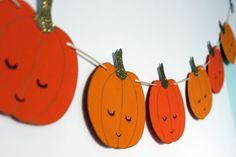 Guirlande Sweetie Pumpkin. Bannière de citrouilles. Halloween décoration.