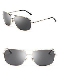 da7d618759b3 Burberry Square Aviator Sunglasses Burberry Outfit