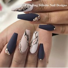 Acrylic marble nail designs for beautiful girls nail art ideas 2020 . - Acrylic marble nail designs for beautiful girls nail art ideas 2020 # nail # nail - Marble Nail Designs, Cute Acrylic Nail Designs, Marble Nail Art, Best Acrylic Nails, Nail Art Designs, Nails Design, Black Marble Nails, White Marble, Acrylic Art