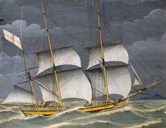 A Ligurian polacca under windy conditions, tempera. 18th century. Genoa Pegli museum