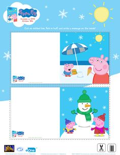 Free Peppa Pig Holiday Cards