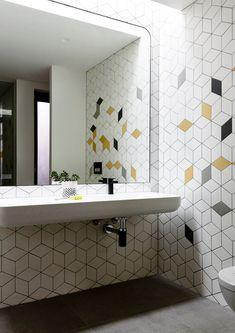 Great looking bathroom tile! Wolseley Residence by McKimm Residential Design