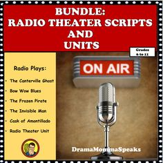 I help busy teachers with creative and innovative lessons and units.  My radio theater plays and units are very popular because they are useful in many classes from Language Arts, Social Studies, Reading and Theater Class.  #dramamommaspeaks#dramaclass#radioplay#secondarylessons#middlegrades#highschool The Canterville Ghost, Theatre Plays, Teacher Resources, Teaching Ideas, Invisible Man, Learning Tools, Social Studies, Busy Teachers, High School