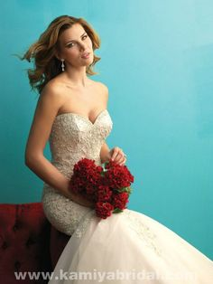 Only - $349.00 Allure 9275 Mermaid Beading best bridal gown [Allure-9275] Allure…