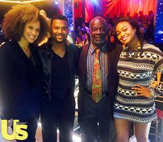 """OMG! We totally hoped this would happen, considering Alfonso Ribeiro's stellar performances on """"Dancing With the Stars"""" every week: The Banks family reunited! Ribeiro's on-screen siblings Karyn Parsons (Hilary Banks) and Tatyana Ali (Ashley Banks) showed up to support him on his journey on the show and they even brought Joseph Marcell, who played the Banks family's beloved British butler and voice of reason, Geoffrey."""