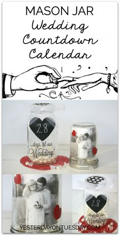 Mason Jar Wedding Countdown Calendar | Yesterday On Tuesday
