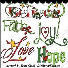 Christmas Words 1 Clip Art: http://digiscrapkits.com/digiscraps/index.php?main_page=product_info&cPath=434_435&products_id=8333 #TrinaClark #DigiScrapKits