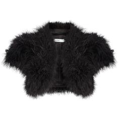 John Lewis Harper Marabou Bolero , Black ($72) ❤ liked on Polyvore featuring outerwear, jackets, black, evening bolero jacket, cropped bolero jacket, short sleeve bolero, evening bolero and john lewis