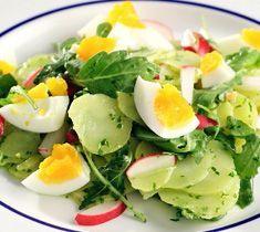 Kartoffelsalat mit Rucola, Radieschen & Eiern: Rezept auf for me