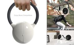 The Anywhere Speakers    Who can resist speakers that can be carried to all the places you fancy! Yes, the Moktak is not your typical pair of portable outdoor speakers. They are special and can be can be used anywhere; while cycling, hung from a tree…. anywhere! The speakers feature a flexible lead cable with a silicone cover and can bend into any shape. The cable stays in shape and surges power between the two audio outputs. It even doubles up as a handle to carry the speakers!