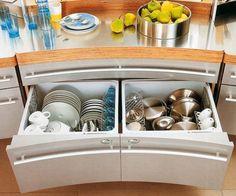 Schubladen Küche einräumen Teller aufbewahrung | Ev | Pinterest ...