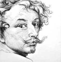 A study of a selfportrait by Anton Van Dyck A part of artclass, learn by studying the old masters A fellow countryman of mine who worked on the english court as a portraitpainter  The original artwork : https://www.rijksmuseum.nl/nl/collectie/RP-P-OB-11.722 #art #drawing #pencil #portrait #vandyck #portret #tekening