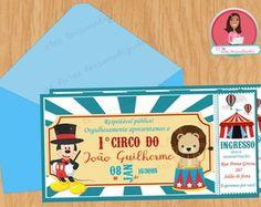 Convite Digital Circo