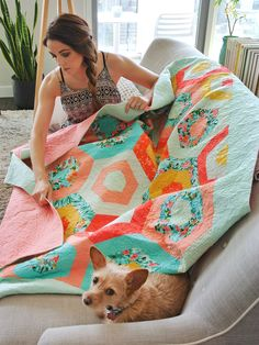 Just a girl and her dog...and their mutual love of quilts :)