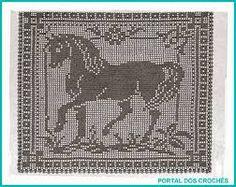 Resultado de imagem para graficos filet crochet