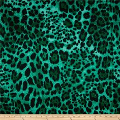 Kimono Voile Leopard Mint/Black