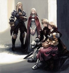 Final Fantasy Tactics Official art.