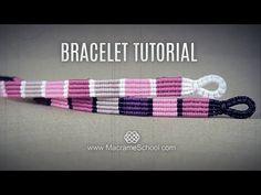 Striped Macramé Bracelet Tutorial by Macrame School - YouTube