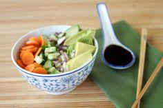 Veggie Sushi Bowl | Naturally Ella