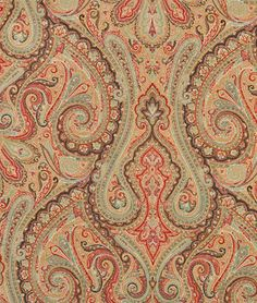 Thought about paisley cushions against a brown leather sofa? Paisley Bedding, Paisley Fabric, Red Fabric, Paisley Pattern, Paisley Print, Textures Patterns, Print Patterns, Guest Room Decor, Bedroom Decor