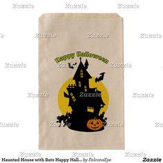 Haunted House with Bats Happy Halloween